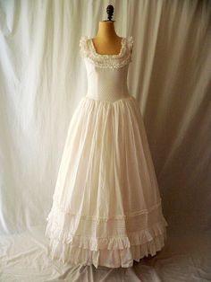 Laura Ashley COTTON Prairie Princess WEDDING by HousewifeVintage, $99.00
