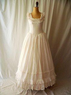 Laura Ashley Cotton Prairie Princess Wedding Gown