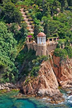 Marimurtra Botanical Garden in Blanes, Catalunya, Spain Wonderful Places In The World Places Around The World, Oh The Places You'll Go, Places To Travel, Places To Visit, Travel Destinations, Romantic Destinations, Dream Vacations, Vacation Spots, Wonderful Places