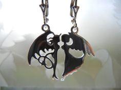 Angel devil earrings angel demon earrings good & evil door EraOfCrea