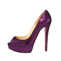 Christian Louboutin Banana Suede Metallic-Square 140mm Pump Purple For Sale  $118.99