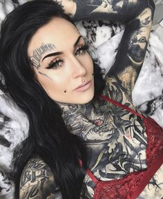 Nice tattoo photo of pretty tattoo model Monami Frost Sexy Tattoos, Body Art Tattoos, Sleeve Tattoos, Tattoos For Women, Tattooed Women, Arabic Tattoos, Tattoo Girls, Girl Tattoos, Tatoos