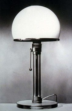 Roots of contemporary lighting. Desk lamp designed by K. J. Jucker and Wilhelm Wagenfeld as a master journeyman project in the Bauhaus Metal Workshop, 1923-24. Bauhaus-Archiv-Darmstadt.