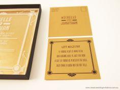 Wedding invitation - http://www.classicweddinginvitations.com.au/art-deco-acrylicinvitation/ - From $9.50