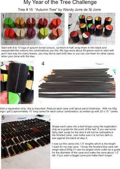 Wendy Jorre de St Jorre Tree cane # 15 - Polymer Clay Millefiori Cane Tutorial