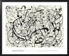 No. 14 (Gray) Art Print by Jackson Pollock at Art.co.uk