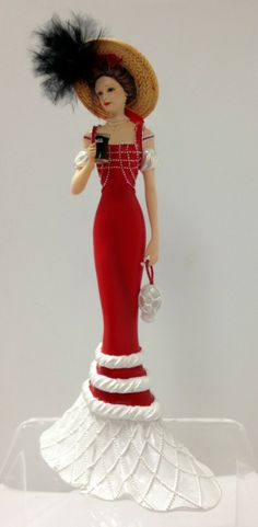 coca cola lady figurine | ... Spirit - Elegance of Coca Cola Lady Figurine - Burning Desires Gifts