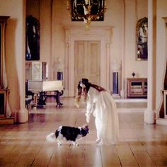 The Queen and Dash. Jenna probably has a piece of sausage hidden on her person! Victoria Itv, Victoria Series, Reine Victoria, Victoria And Albert, Queen Victoria, Story Inspiration, Writing Inspiration, Character Inspiration, Aesthetic Gif