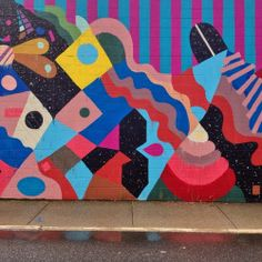 southendtextiles:  Middle of the @mayahayuk mural in North Adams #superS #stussy #art #massMoCA #mural #latergram