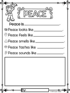 - Free by Teacher Jeanell Kindergarten Freebies, Kindergarten Writing, Peace Poems, Mlk Jr Day, Remembrance Day Activities, Harmony Day, Social Studies Worksheets, King Quotes, King Jr