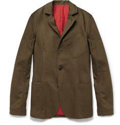 Oliver Spencer Slim-Fit Cotton-Twill Travel Jacket | MR PORTER
