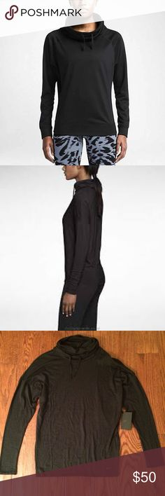 New Nike Dri-fit Black Wool Infinity Top Nike Dri-fit Wool Infinity Cover Up Top •New with tags •Size Small •Lightweight wool material (65% wool, 35% polyester) •Retails for $85 •Style #641150 •Offers are welcome 🎉 Nike Tops Tees - Long Sleeve