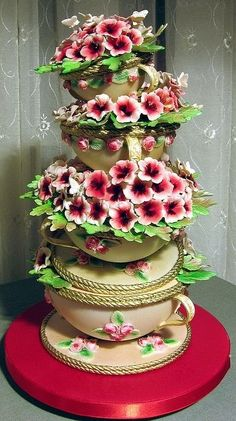 Flowers cake.