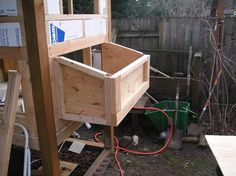 Nesting boxes for the Chicken McMansion (Part Pet Chickens, Raising Chickens, Chickens Backyard, Rabbit Nest, Rabbit Cages, Chicken Nesting Boxes, Chicken Runs, Chicken Lady, Chicken Tractors