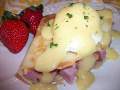 Get this Eggs Benedict Recipe for Crepes and other easy breakfast recipes here.