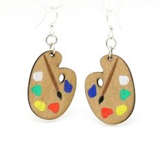 Painter Pallete Wood Earrings made from Eco Friendly Wood Jewelry Accessories, Fashion Accessories, Jewelry Design, Fashion Jewelry, Wood Earrings, Beaded Earrings, Clay Jewelry, Jewelry Crafts, Custom Jewelry