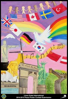 2014-15 Lions Clubs International Peace Poster Competition submission from Mid-Levels Hong Kong Lions Club in Hong Kong