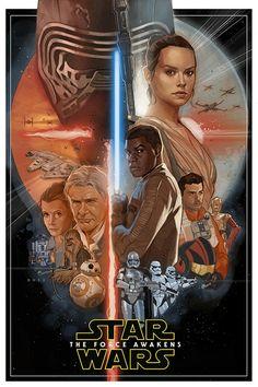 Star Wars VII - Artista da Marvel cria belíssimo pôster não-oficial do filme! - Legião dos Heróis