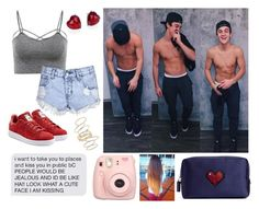 """Ethan Dolan"" by sorrynoturbabe ❤ liked on Polyvore featuring Glamorous, Fujifilm, Anya Hindmarch, Adriana Orsini, adidas Originals and BP."