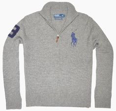 Polo Ralph Lauren Men Half-Zip Big Pony Logo Sweater - cool and the gang