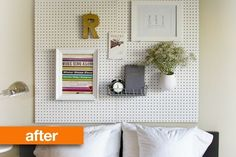 Before & After: Ashley's New Headboard   Apartment Therapy