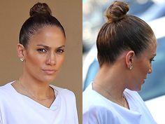 We love JLo's slick top knot #hairspiration