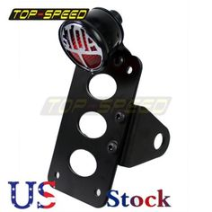 "38514 motorcycle-parts ""Stop"" Side Mount Motorcycle Tail Light License Plate Bracket Cafe Racer Bobber  BUY IT NOW ONLY  $34.58 ""Stop"" Side Mount Motorcycle Tail Light License Plate Bracket Cafe Racer Bobber..."