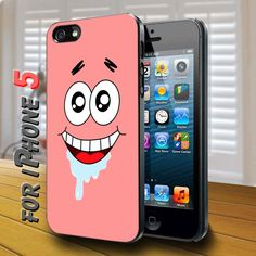 patrick star spongebob squarepants black Case for iphone