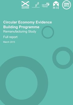 This study, for the first time, estimates that the worldwide turnover in remanufactured products is nearly $110 billion, with the European and US industries being roughly equivalent in size. For Scotland, this study estimates the size of the remanufacturing industry to be £1.1 billion, employing some 19,000 people. Comparatively, remanufacturing is more important to the Scottish economy than it is for the UK as a whole.