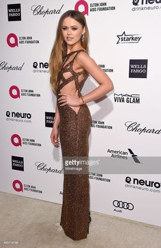 Kristina Bazan attends the Elton John AIDS Foundation's 23rd annual Academy Awards Viewing Party at The City of West Hollywood Park on February 22, 2015 in West Hollywood, California.