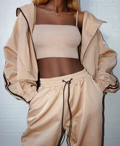 Boujee Outfits, Cute Lazy Outfits, Sporty Outfits, Outfits For Teens, Trendy Outfits, Fashion Outfits, Beige Outfit, Lounge Outfit, Tracksuit Set