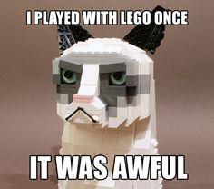 The Grumpy LEGO Cat