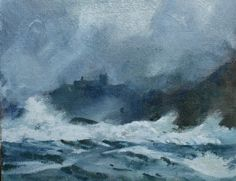 Wild Sea at Black Rock, an original oil painting by Rob Piercy,