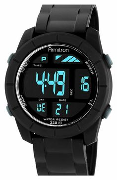 Armitron Round Digital Sport Watch, 48mm available at #Nordstrom