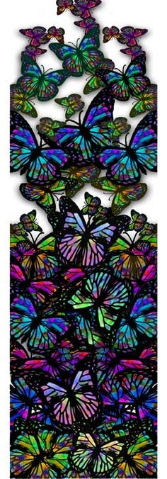 Jewel toned butterfly banner