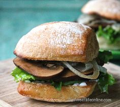 Portobello Sliders With Caramelized Onions