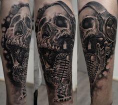 tatouage crane tatoueur stephane bueno studio black corner tattoo situe a Valence #tattoo #tattoos #tattooed #skull #art #artiste #realism #ink #inked #girl #girls #inks