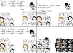 Dodgeball as a kid