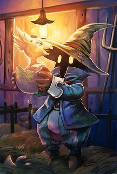 no Final Fantasy is complete without a Chocobo :) Final Fantasy Ix, Final Fantasy Artwork, Fantasy Series, Veigar League Of Legends, Art Eras, Cute Illustration, Fantasy Characters, Outdoor Travel, Art And Architecture