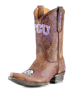 TCU Gameday boots - is this the perfect #FathersDay gift for the Horned Frog fan or what!