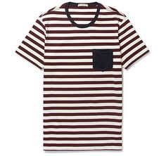Striped Cotton-Jersey T-Shirt   - BURBERRY BRIT