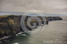 Landscape view of Moehr Clifs in Ireland