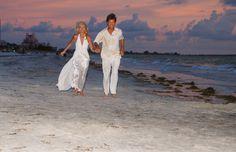 Sunset wedding on St Pete Beach at Plaza Beach Resorts
