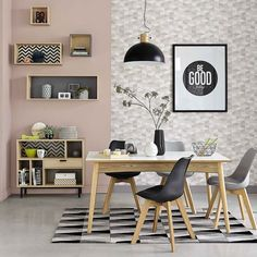Minimalist Interior Ideas Best for Rented House and Small Apartments Part 27 10 Seater Dining Table, Scandinavian Chairs, Scandinavian Style, Sweet Home, Interior Minimalista, Interior Decorating, Interior Design, Interior Ideas, Minimalist Interior