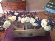 country wedding bouquets I made  Nov 2012