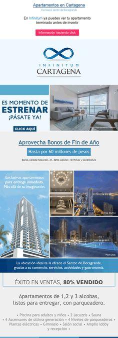 #NOVOCLICK esta con #Infinitum E-mail Marketing, End Of Year, Cartagena, Apartments