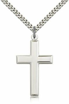 Mens Necklace 2 Layers Cross Pendant Stainless Steel Chain Gold Black Silver Necklace for Men,Black Silver,20inch 50cm