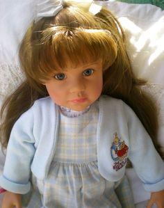 Götz Puppe Brooke 58cm 2001 Stehpuppe Col. Beatrix Potter Sammlerpuppe Gotz Doll