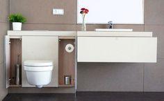 Baño modular con carcasas intercambiables para renovar la imagen con regularidad #ReformaSinObra