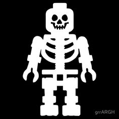 "Lego Skeleton, so need this cut file for cute halloween shirt. Also want to do ""I ain't afraid of no ghosts"" shirt for Halloween. Silhouette Cameo"